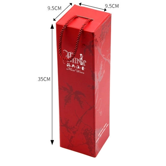 Custom High Quality Flat Wine Packaging Paper Box