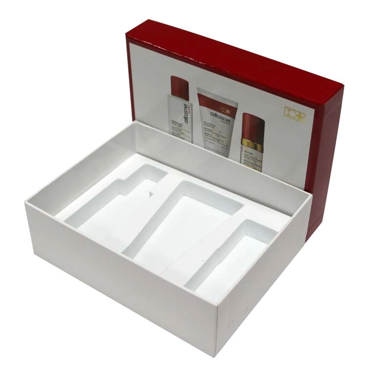 2pieces shipping paper Cosmetic packaging boxes with EVA